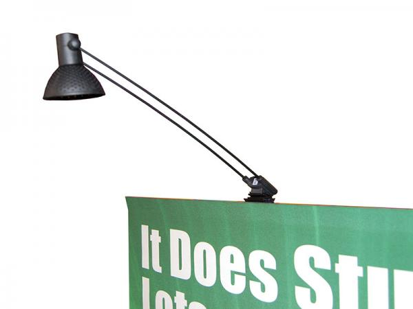 Summit Telescopic Banner Stand Optional 50 Watt Halogen Light - Black - Available in Silver or Black - Optional Light Bag Available Holds Two Lights (not pictured)