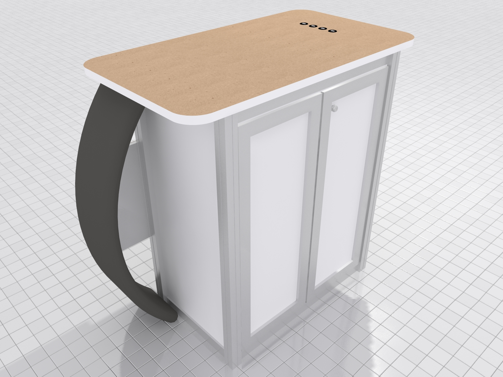 MOD-1550 Reception Counter and Charging Station -- Image 3