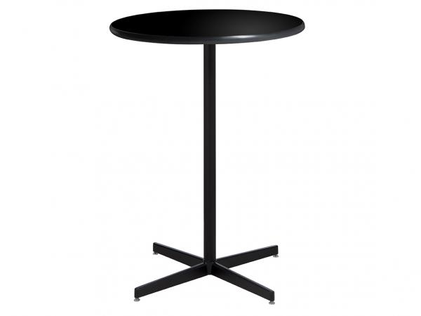 "36"" Round Bar Table w/ Standard Black Base