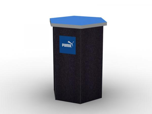 DI-650 Trade Show Pedestal -- Fabric Folding Panel Design -- Image 1