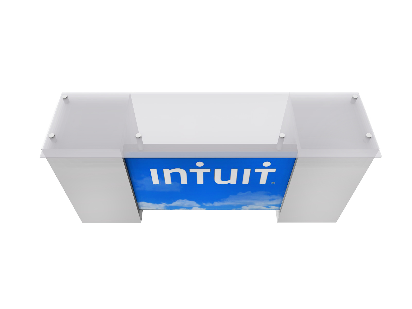 ECO-42C Sustainable Backlit Tradeshow Counter with Storage - View 3