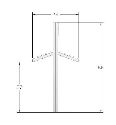ECO-24C Sustainable Display Stand - Plan View