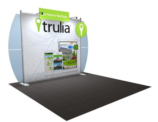 VK-1219 Portable Hybrid Trade Show Exhibit -- Convex Wings