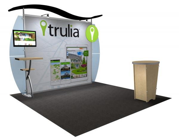 VK-1233 Portable Hybrid Trade Show Exhibit -- Convex Wings