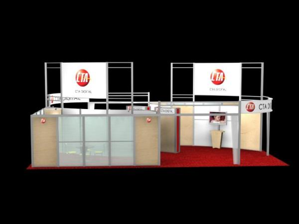 RE-9046 Rental Exhibit / 30� x 40� Island Trade Show Display � Image 2