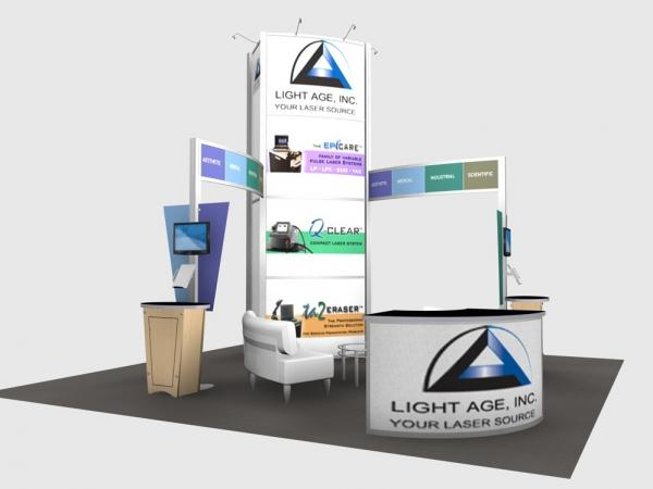 RE-9066 Rental Exhibit / 20' x 20� Island Trade Show Display � Image 2