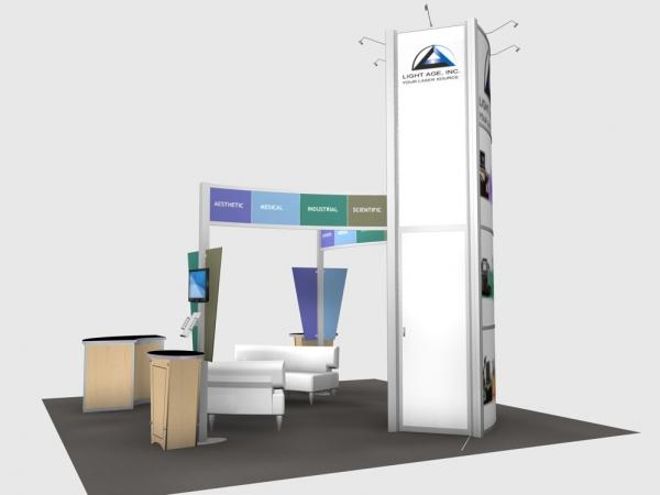 RE-9066 Rental Exhibit / 20' x 20� Island Trade Show Display � Image 4