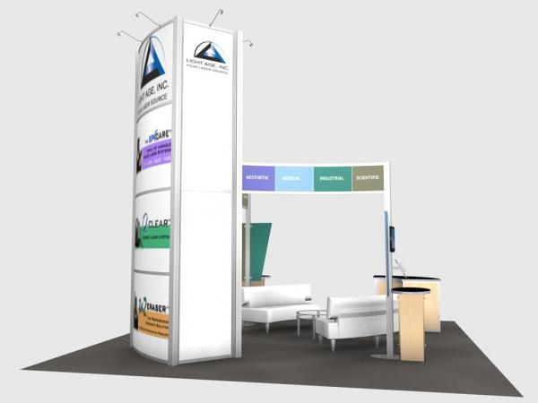 RE-9066 Rental Exhibit / 20' x 20� Island Trade Show Display � Image 5