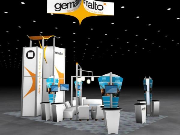RE-9059 Rental Exhibit / 20� x 30� Island Trade Show Display � Image 4