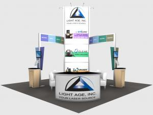 RE-9066 Rental Exhibit / 20� x 20� Island Trade Show Display � Image 1